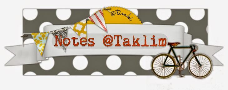 Notes @Taklim