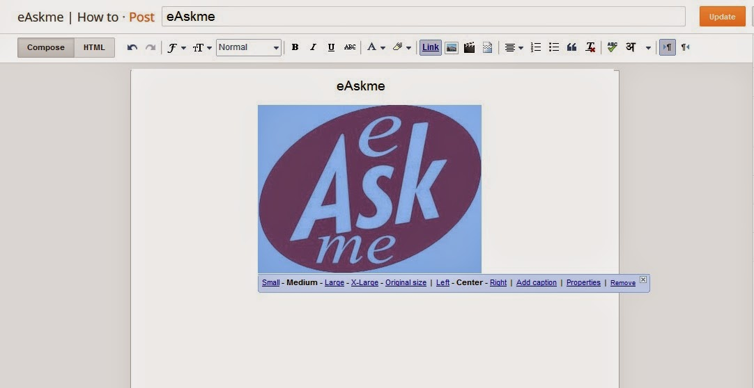 How to Size Pictures on Blogger : eAskme