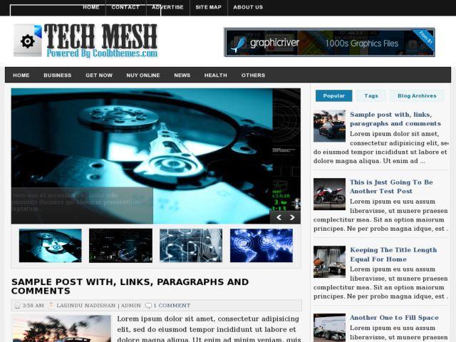 Tech Mesh Blogger Template