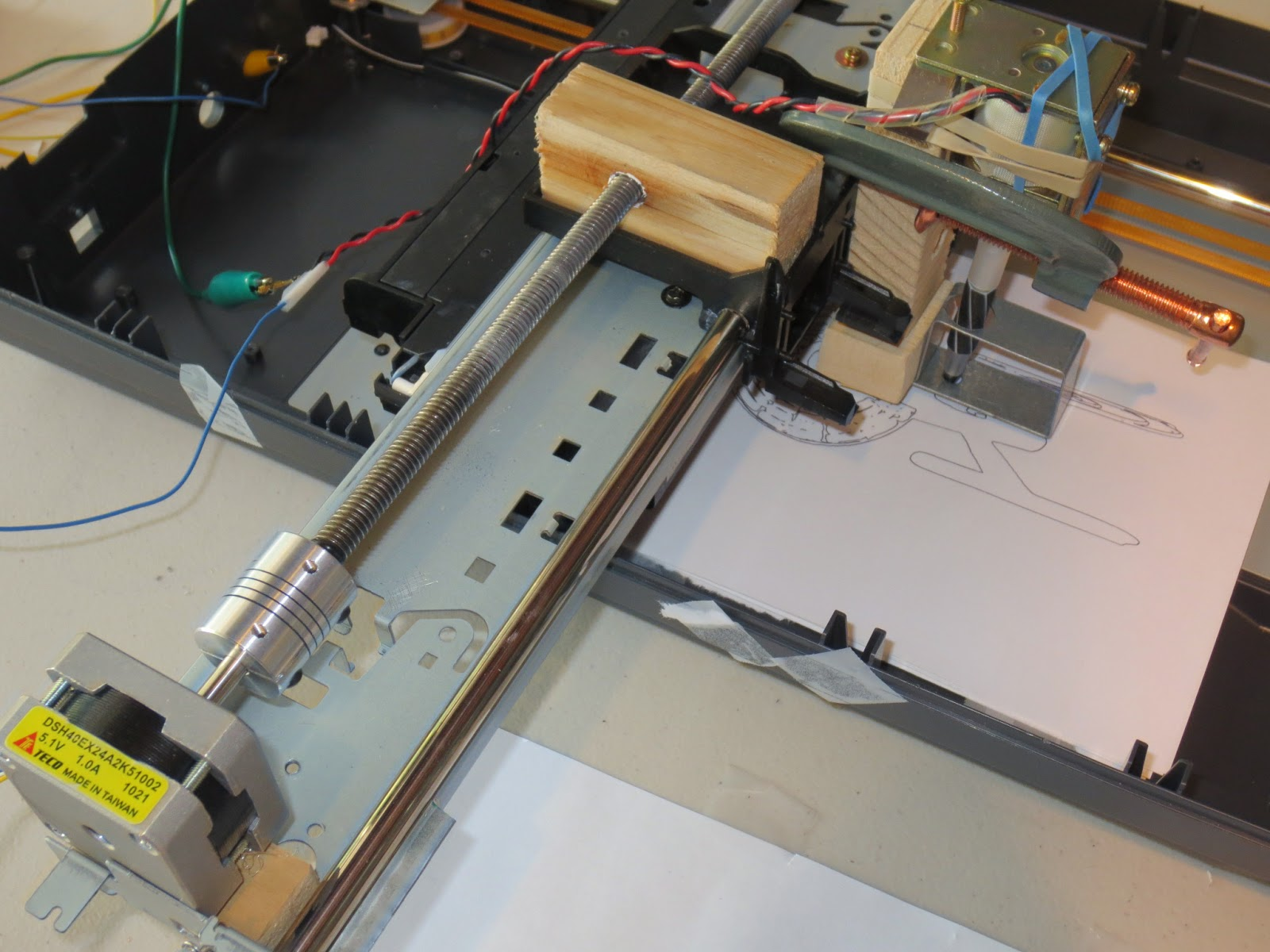 Electronics Frankenplotter Lead Screw Assembly