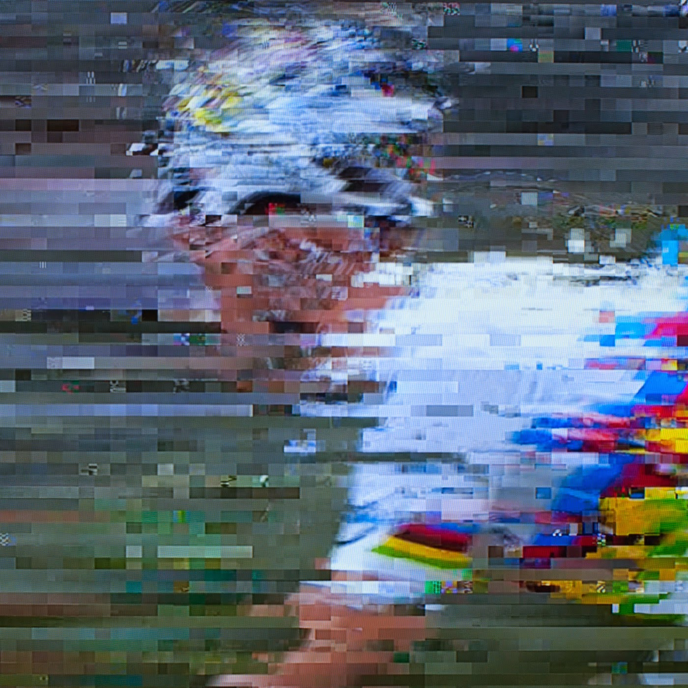glitch, tim macauley, you won't see this at MoMA, le tour de france, 2014, abstract, abstraction, tv coverage, signal loss, noise to signal ratio, photographic art, graphic, digital, noise, signal, uci, world champion
