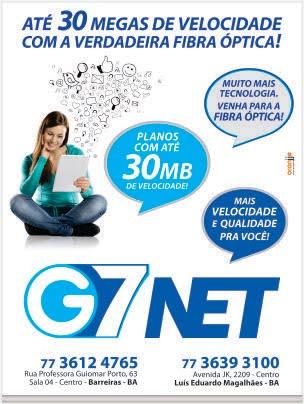 G7Net: ATÉ 30 MEGAS DE VELOCIDADES