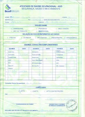 Exame admissional em guarulhos