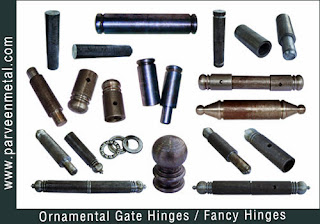 Ornamental Gate Hinges and wrough iron hinges hardware for gates parts and fences manufacturers exporters in  india, usa, uk, America, UAE Dubai