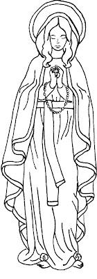Inmaculada Concepción colorear