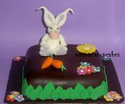Tarta fondant conejo de pascua tarta conejo de pascua