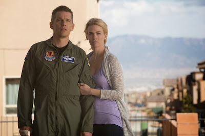 January Jones and Ethan Hawke in Good Kill