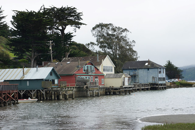 Waterfront cottages on Tomales Bay