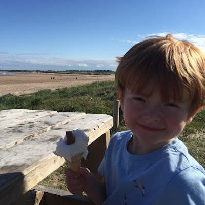 Alnmouth beach ice cream. North East Family Fun Review