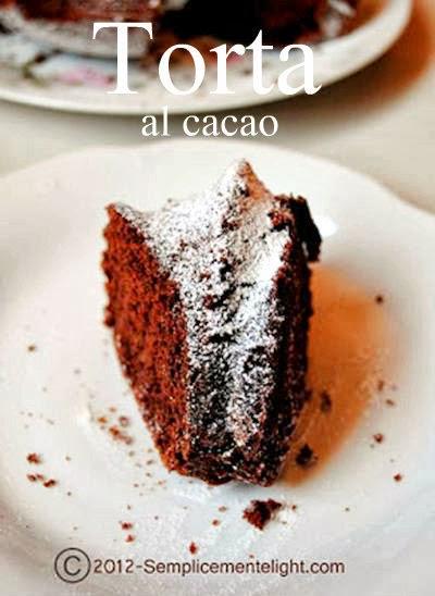 Torta al cacao senza burro e senza uova