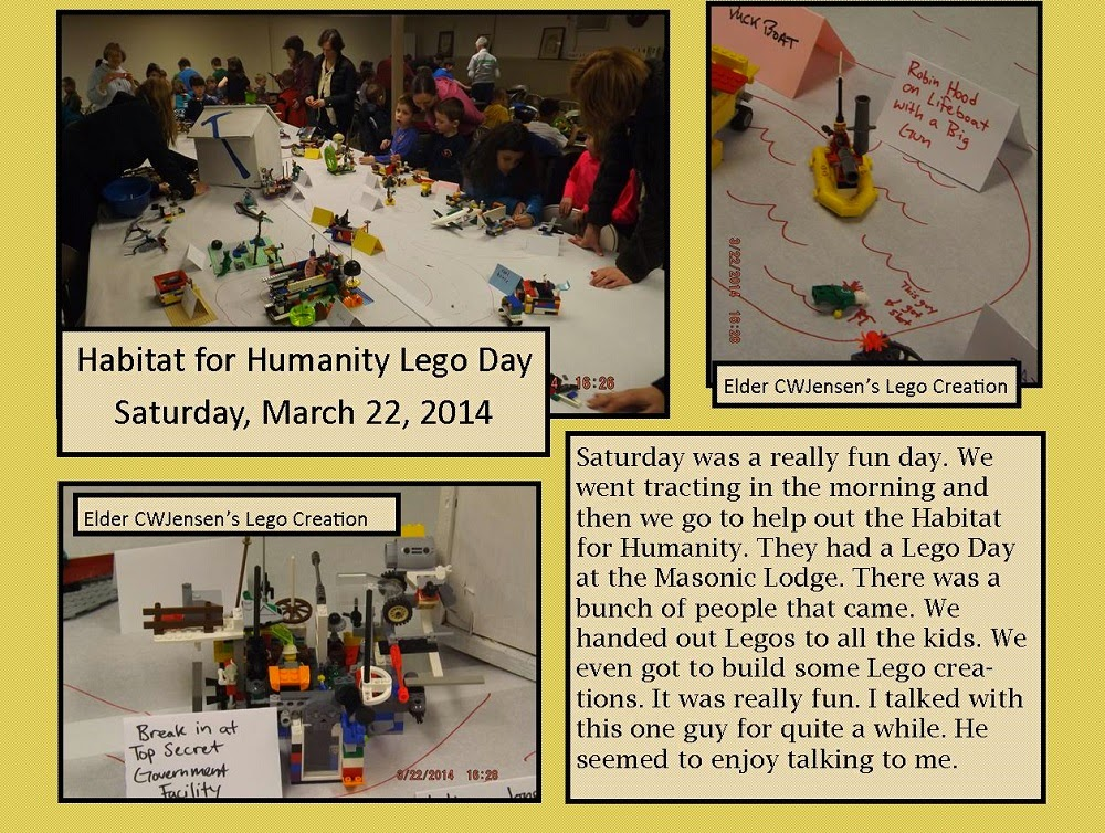 March 22, 2014 - Service and Legos