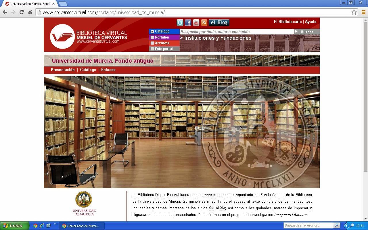 imagen del Fondo Antiguo BUMU en la Biblioteca Virtual Miguel de Cervantes.