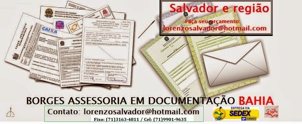 Despachante em Salvador - Bahia - Certidões