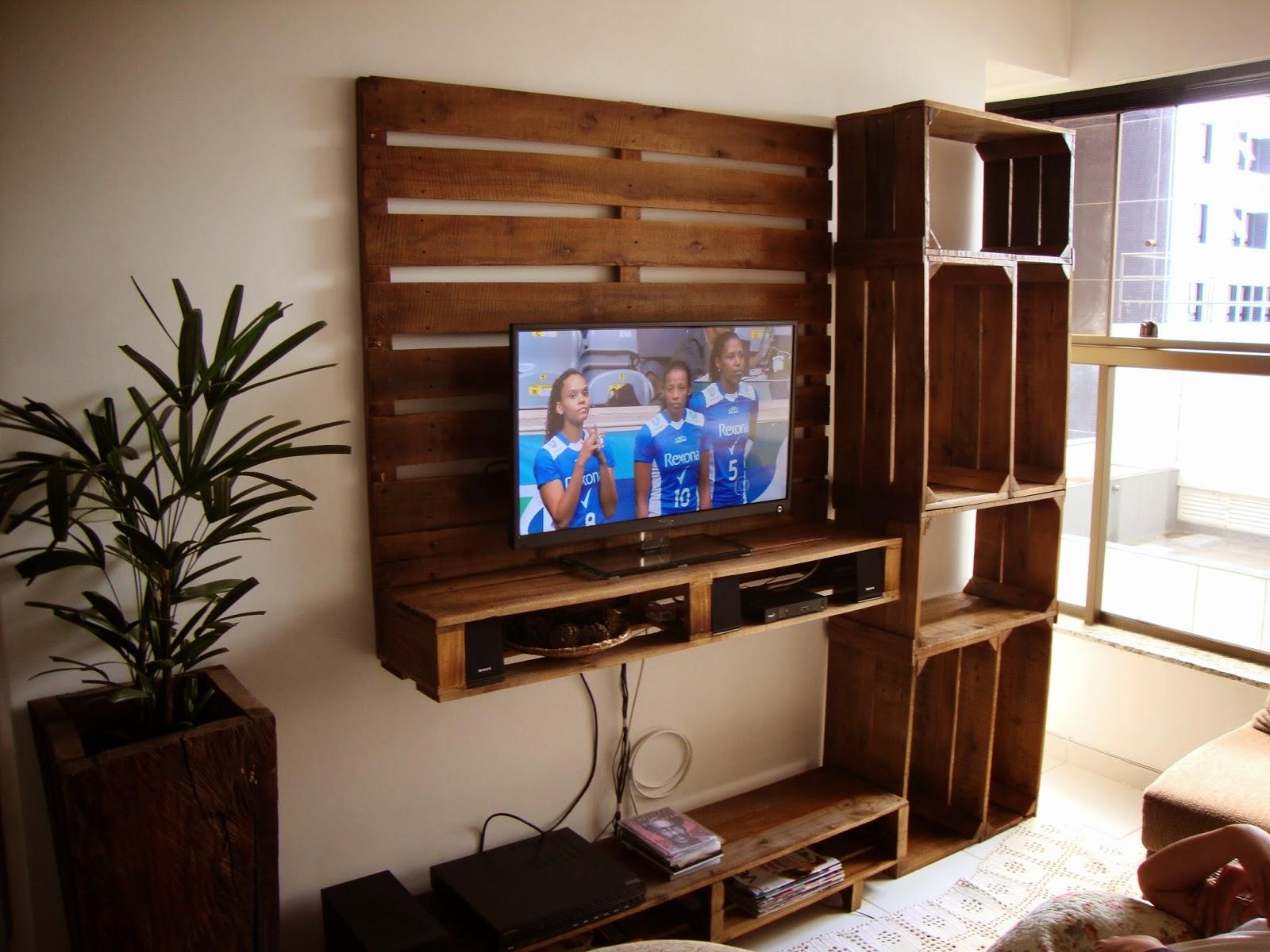 Art's Pallets: Painel para tv e estante e mesa de centro #2064AB 1600x1200