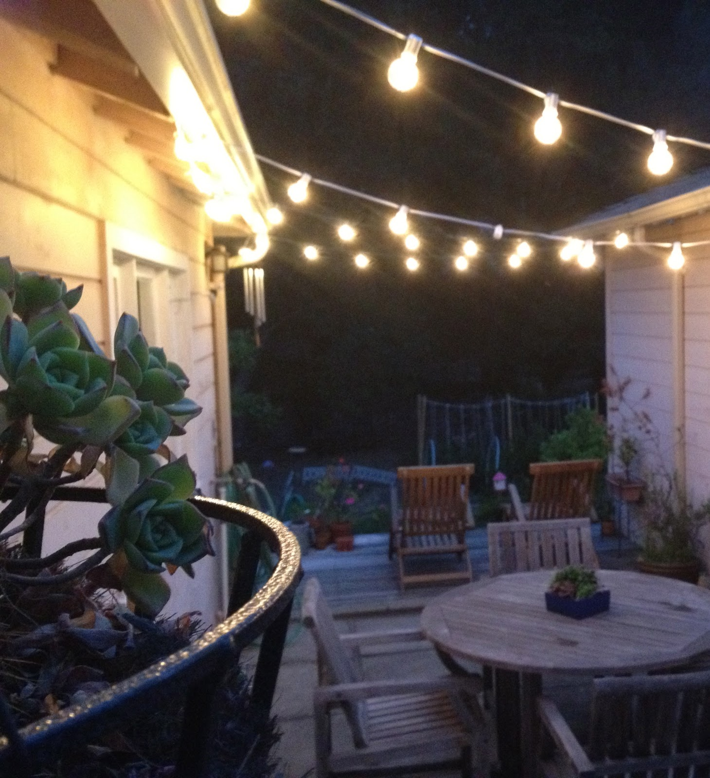 Outdoor String Lights Hardware: Backyard Entertaining - Copycatchic