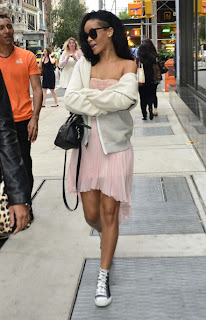RIHANNA  goes for a walk in New York