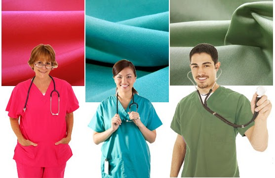 Vogue Fabrics has Medical Scrub Fabric - nursing scrubs, doctor scrubs, lab coats