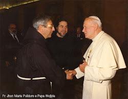Padre G.M. Polidoro e Papa Giovanni Paolo II