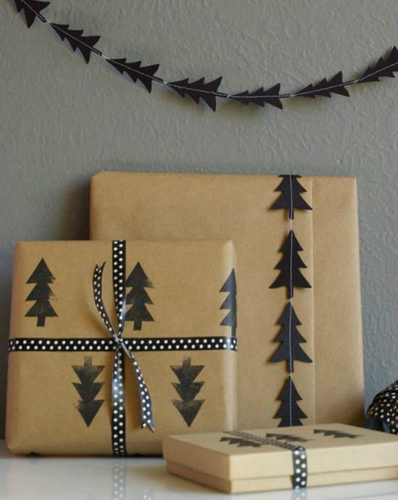imagen_regalos_regalo_facil_envolver_ideas_sencillo_idea_papel_craft_marron_estampar_arboles_negro