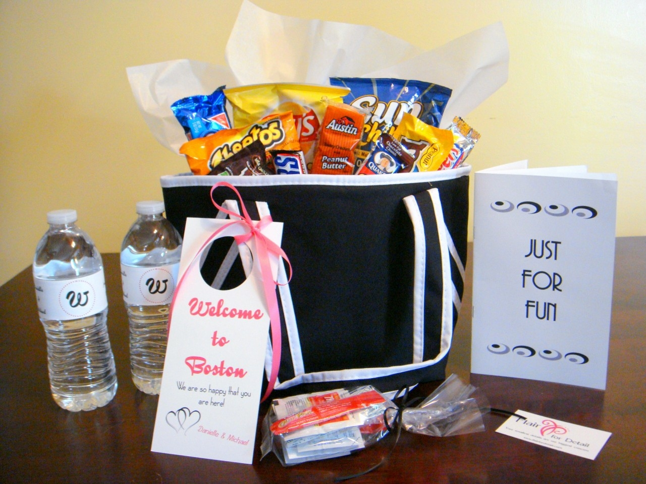 Destination Wedding Gift Baskets Guests : to include is bottled water, but consider location of your wedding ...