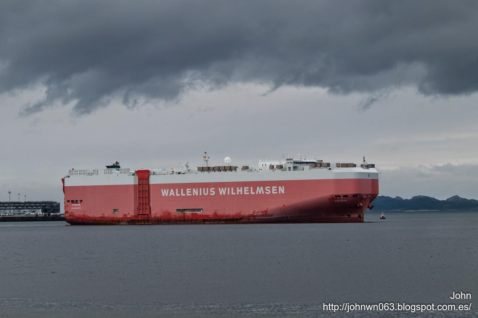 Toscana, vehicles carrier, ro-ro, bouzas, vigo, Wilhelmsen lines, fotos de barcos, imagenes de barcos, tecnologia