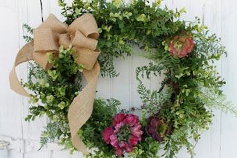 Rustic Succulent Wreath