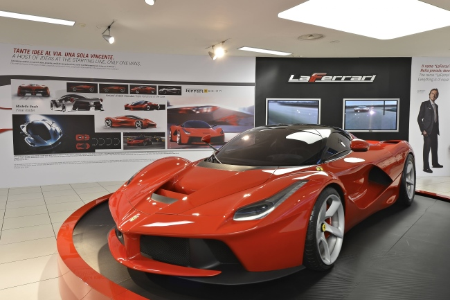 Ferrari LaFerrari at the FERRARI SUPERCAR. TECHNOLOGY. DESIGN. MYTH EXHIBITION