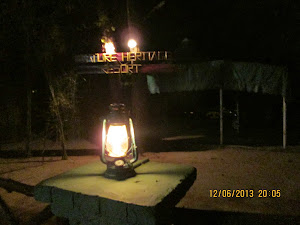"Ancient ""Petromax Lamps"" light the entire resort at night."