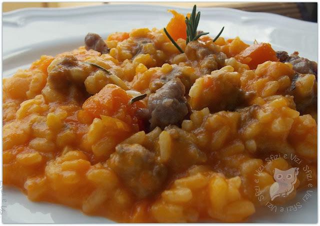 il nostro risotto di halloween, risotto zucca e carote