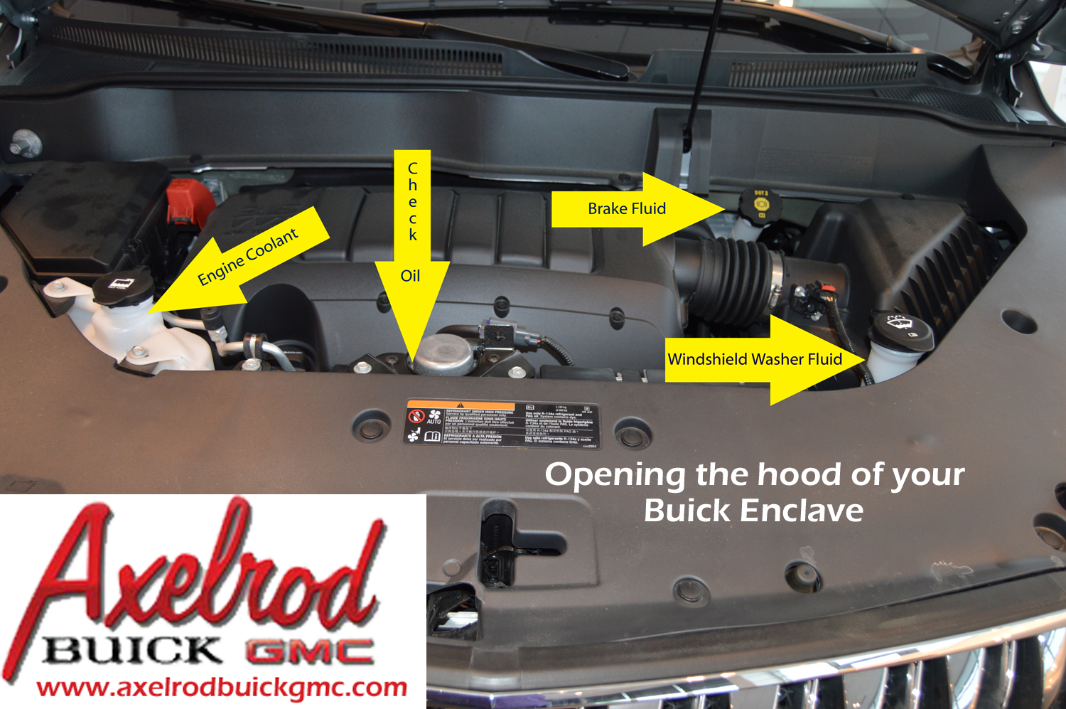 hood on the axelrod battery cleveland gmc your in finding buick underhoodthumbnail ask latch enclave