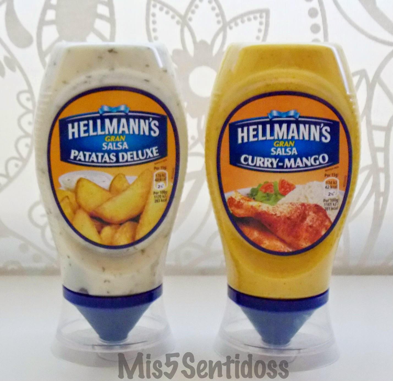 Degustabox agosto 2014 Hellmann´s patatas deluxe y curry-mango