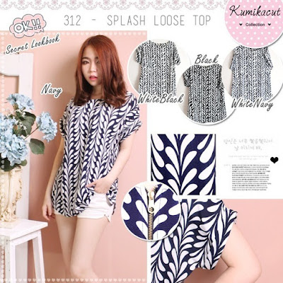 Kristanti Abstract Casual Blouse, Harga Rp 89 Rb, Kode: 746