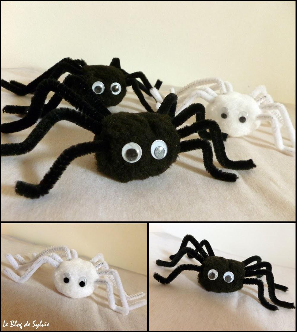 Le blog de sylvie d co d 39 halloween agla e l 39 araign e - Fabriquer araignee pour halloween ...