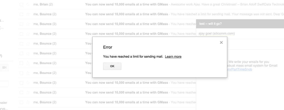 Understanding Gmail's Email Sending Limits