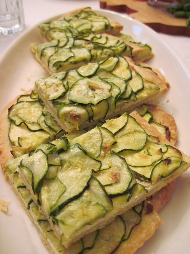 Zucchini Tart With Lemon Thyme And Goat Cheese Recipe ...