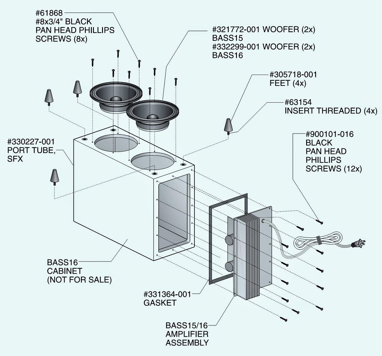 JBL    BASS15      JBL    BASS16  SCHEMATIC    DIAGRAM      Powered SubWoofer   Electro help