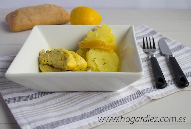 Receta pollo al horno con limón Chef o Matic Pro