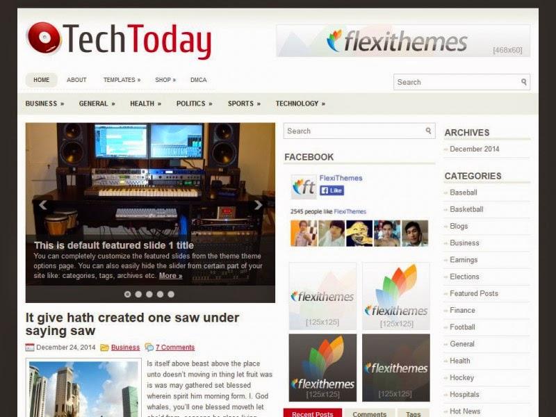 TechToday - Free Wordpress Theme