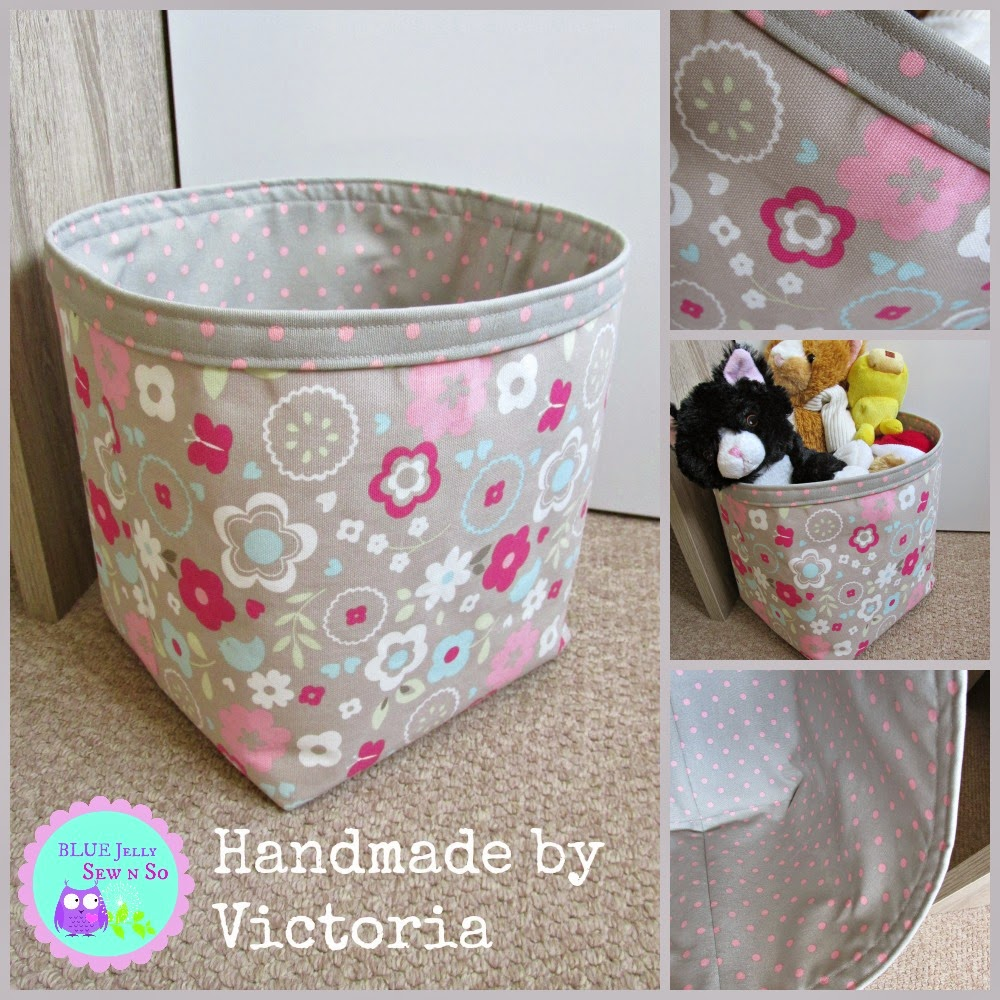 Fabric_Storage_Craft_Caddy_Basket