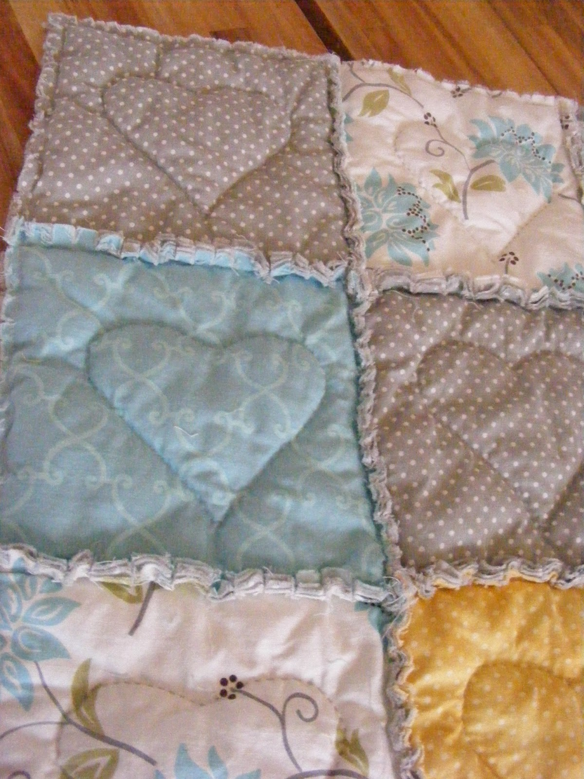 The Complete Guide to Imperfect Homemaking: A Heart-Stitched Baby ... : rag quilt how to - Adamdwight.com