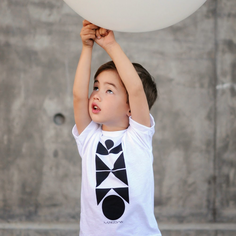 Munkstown graphic tee Balancing Act  for spring 2014 kidswear collection