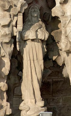Carving of Mary on the Nativity Facade