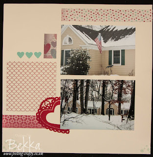 Foxfield Inn Scrapbook Page by Stampin' Up! Demonstrator Bekka Prideaux - why not join her Scrapbook Club and get a great kit every month just email bekka@feeling-crafty.co.uk for details