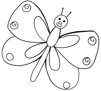 Desenho de Insetos para colorir Borboleta