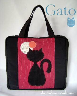 Bolsa para guardar esmaltes - modelo Gato