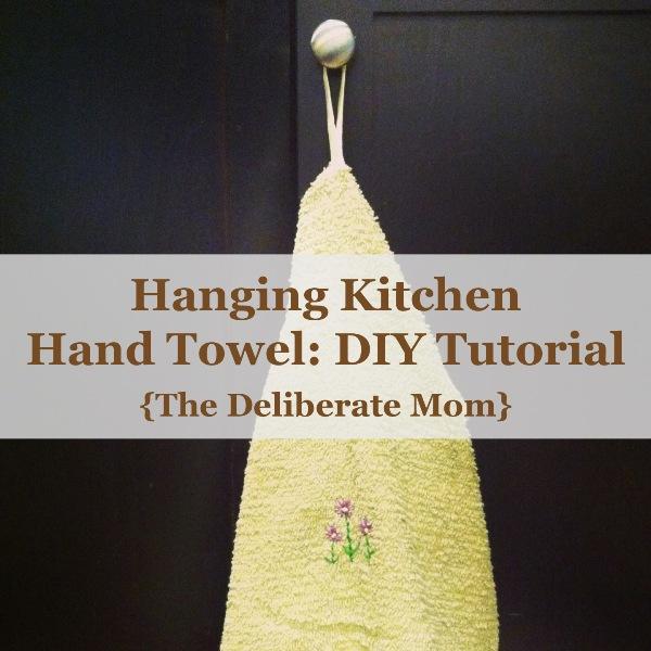Hanging Kitchen Hand Towel: Easy DIY Tutorial