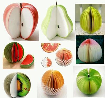 notes unik bentuk aneka buah