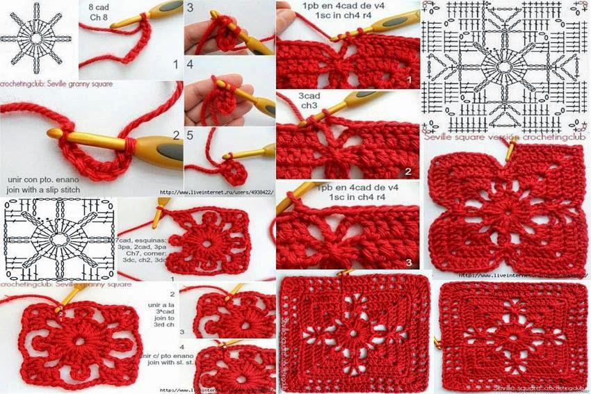 Come fare una mattonella traforata alluncinetto