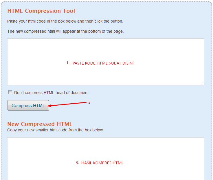 compress html blog