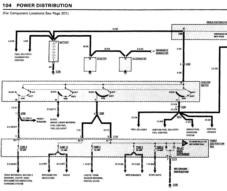 bmw_318i_1984_WiringDiagrams repair manuals bmw 318i 1984 electrical troubleshooting manual 1985 bmw 318i wiring diagram at crackthecode.co